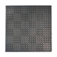 interlocking tile garage flooring the home depot grey commercial grade pvc self drainage garage flooring 18 pack