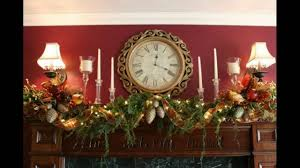 christmas mantel decorations youtube