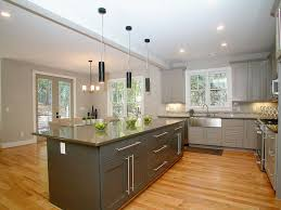 kitchen island farmhouse contemporary kitchen with quartz counters by epic development