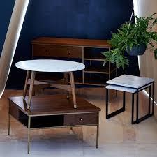 west elm reeve coffee table reeve mid century marble coffee table coffee table designs