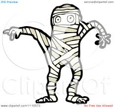 clipart halloween mummy 3 royalty free vector illustration by