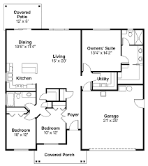 bungalow style house plan 3 beds 2 baths 1501 sq ft plan 124