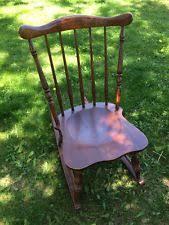 Antique Nursing Sewing Rocker Small Star Pattern Seat Tell City Chairs Ebay
