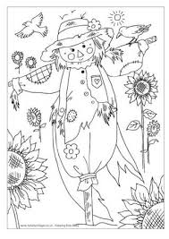 coloring pages engaging scarecrow coloring pages free e28093