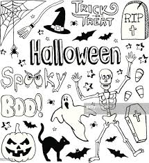 festive holiday themed small sketches for all hallows eve vector