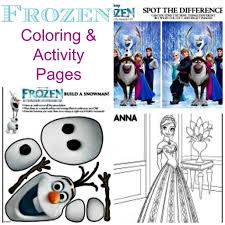 frozen coloring pages activity ideas food crafts family