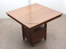 Solid Teak Wood Furniture Online India 4 Seater Square Teakwood Dining Table