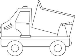 dump truck clipart image dump truck coloring page image 32223