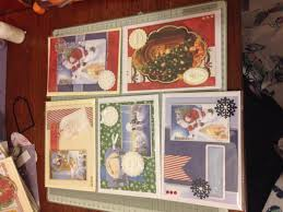 selection of handmade christmas cards to be sold 1 25 each made
