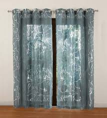 buy teal polycotton wallace sheer door curtain by rosara online