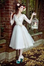 wedding dress pendek aliexpress beli gaya baru vintage setengah lengan v neck