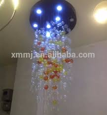 Glass Balls Chandelier Handmade Blowing Art Murano Glass Bubble Ball Hotel Decor Tall