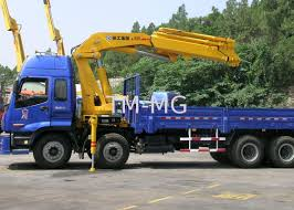 durable 16 ton transporting articulated boom crane hydraulic system