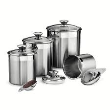 Where To Buy Kitchen Canisters Amazon Com Tramontina 80204 527ds 8 Piece Canister And Scoops Set