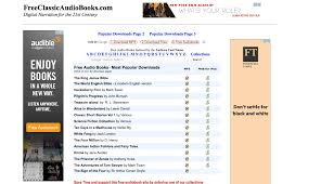 100 best free audio books and 10 sites for more