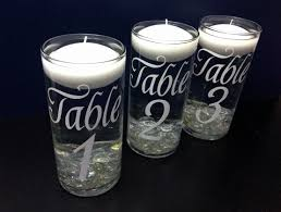 Floating Candle Centerpieces by Put Inside The Lantern Table Numbers Wedding Floating Candle By