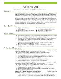 teacher profile resume awesome professional esl teacher templates