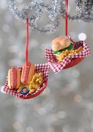 hamburger ornament mantles burgers