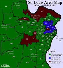 Map Of St Louis Area Rotten Districts In Missouri