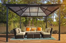 Outdoor Patio Gazebo by Interior Design Shop Gazebos At Lowes Intended For Patio Gazebo