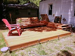Patio Furniture Made Out Of Wooden Pallets by Deck And Relaxation Area Created Out Of Pallets And A Little