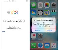 switching from android to iphone how to transfer contacts photos text messages from android to