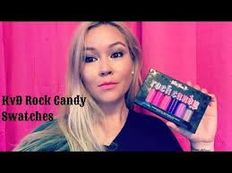 Rock Candy Adult - kat von d rock candy studded kiss swatches youtube