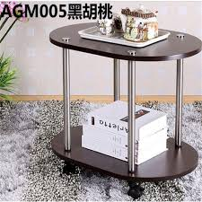 gray wood side table 60 40 47cm modern wood bedside table sofa side coffee table mobile