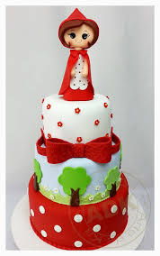 15 beautiful red riding hood cake designs charming