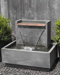 Solar Powered Water Features With Led Lights by Modern Water Fountains Contemporary Water Features Stainless