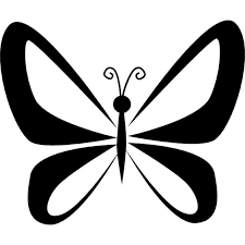 butterfly with wings perspective from top view icons free