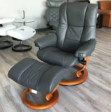 mayfair paloma rock leather recliner chair and ottoman by ekornes