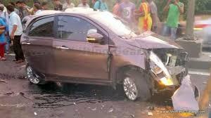 massive tata tiago crash truck driver in hospital but tiago