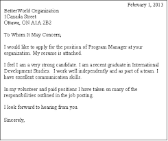 sample cover letter for job posting sample cover letter for job