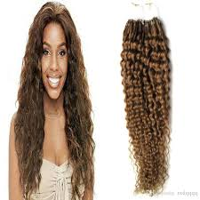 light brown curly hair curly micro ring hair extensions 100g 8 light brown curly