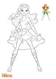 Coloriages DC Super Hero Girls à imprimer gratuitement