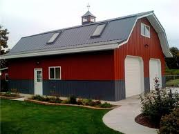 Barn Living Floor Plans Large Classic Gambrel Barn Style Garage Class Metal Building