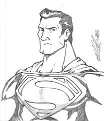 man of steel pencil sketch by mikereisner on deviantart
