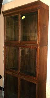 Barrister Bookcase Door Slides Oak Danner Stacked Bookcase Sliding Doors Pull Out Shelf From