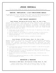 Sample Of Making Resume Hvac Resume Resume Cv Cover Letter