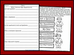 mini science folder experiment printable worksheet with answer key