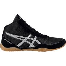 onlin trend asics mens matflex 5 wrestling shoes black silver mens