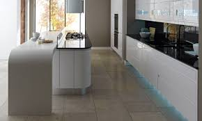 Cream Gloss Laminate Flooring Remo Gloss White Contemporary Kitchen
