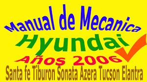 2006 hyundai santa fe manual manual de mecanica taller hyundai santa fe tiburon sonata accent