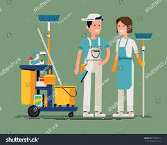 professional window cleaning equipment cool vector cleaning staff characters cleaning stock vector