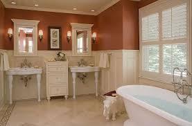 Console Sinks Bathroom Craftsman Master Bathroom With Master Bathroom U0026 Console Sink