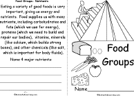 food theme page at enchantedlearning com