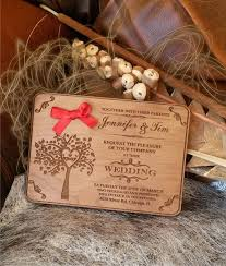 wooden wedding invitations engraved wood wedding invitation rustic handmade wedding