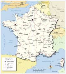 Marseille France Map by Political Map Of France Nations Online Project