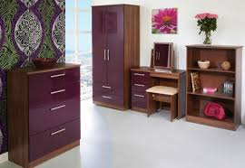 High Gloss Bedroom Furniture Black And Walnut Bedroom Furniture